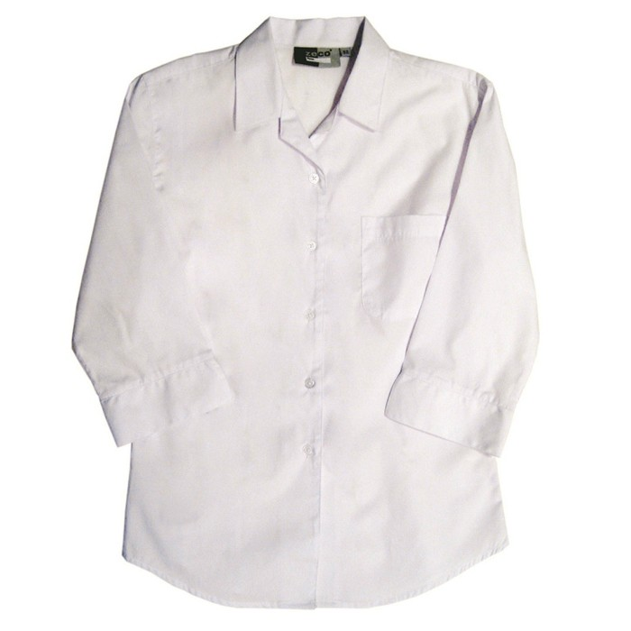 3/4 Sleeve Revere Collar School Blouse