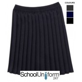 62f396207d KNIFE PLEAT SCHOOL SKIRT · Ages 5-16 years. Great quality skirt. All round  pleats and elastic.