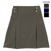 c8b8710c5e Lycra Four Button Skirt with 2 Pleats and Half Elastic Back waist. Price:  £14.99. Lycra Pleated School ...
